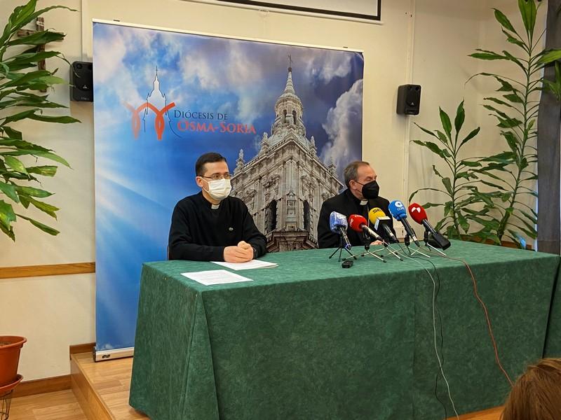 Obispo de Soria, en una rueda de prensa